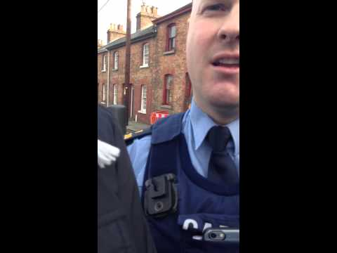 Garda bullies trying to move protesters