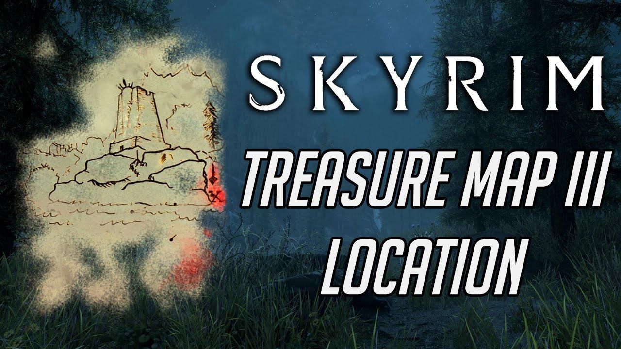 Skyrim Treasure Map III Location - YouTube