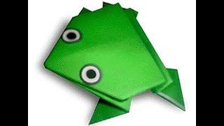 origami frog. оригами лягушка.