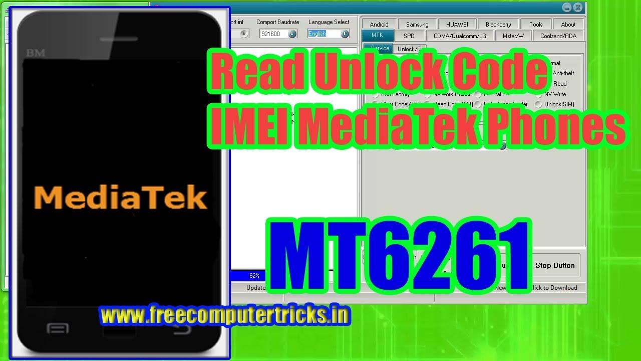 Read Unlock Code IMEI MediaTek MT6261