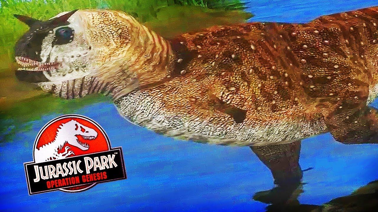 Amazing New Carnotaurus Mod Jurassic Park Operation Genesis Advanced Operation Genesis