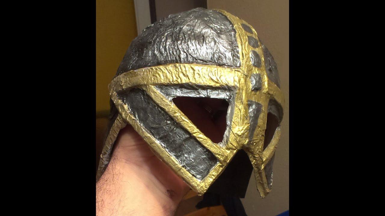 tutorial de fabricación de casco medieval para niño - youtube