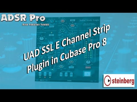 UAD SSL E Channel Strip from the SSL 4000 Mixing Console in Steinberg Cubase