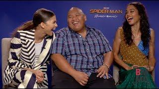 Zendaya, Jacob Batalon, & Laura Harrier Interview - Spider-Man: Homecoming