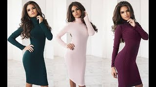Turtleneck Dress/Fashion Industry/Winter Outfit