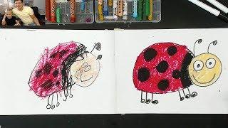Урок рисования для детей от 3 лет / Рисует Божью Коровку