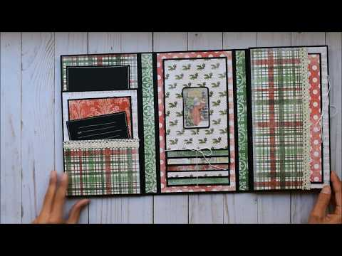 Mini Trifold Folio | Old World Winter - Paper Studio