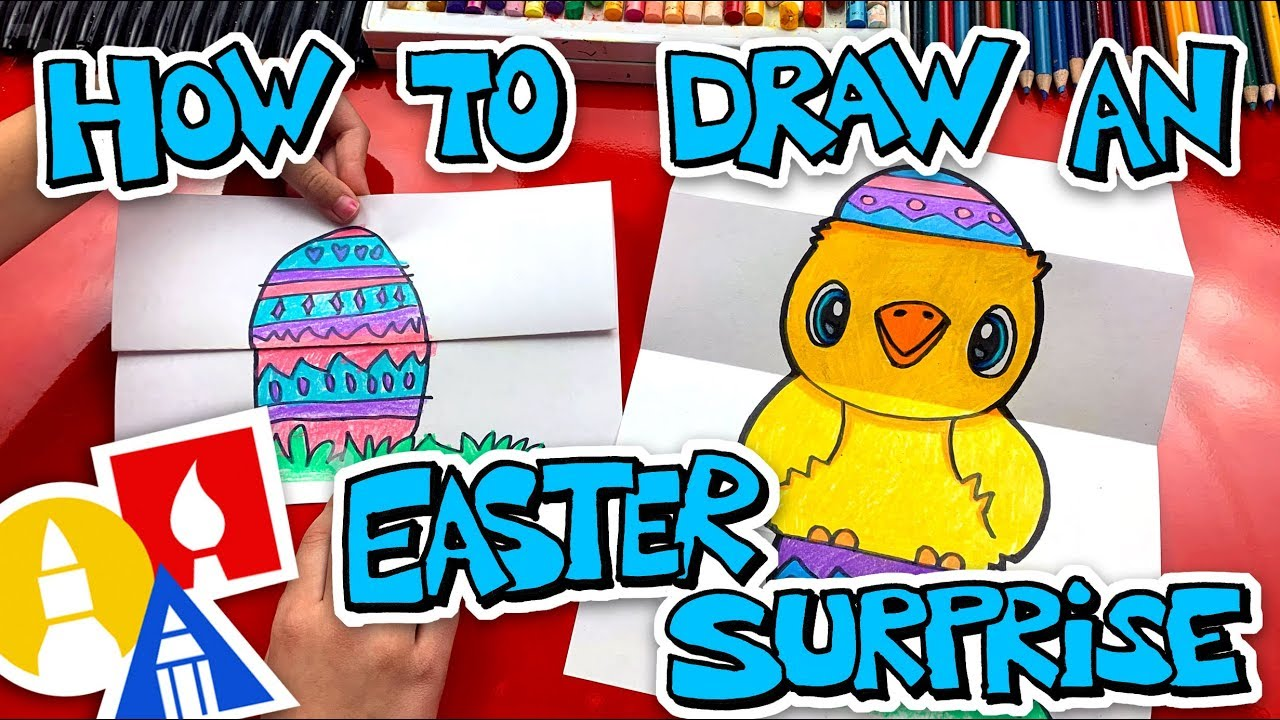 How To Draw An Easter Egg Folding Surprise Youtube