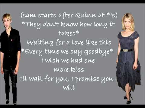 Glee lucky lyrics (Sam and Quinn)