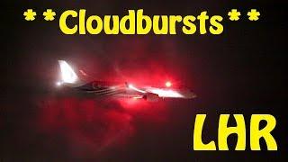 London Heathrow Plane Spotting - Beautiful Cloudbursts at Feltham Bankings