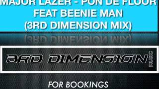 BEENIE MAN - BACK IT UP PON DE FLOOR MAJOR LAZER (3RD DIMENSION MIX)