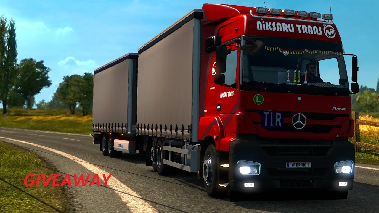 Ets 2 mercedes benz axor giveaway youtube for Mercedes benz giveaway