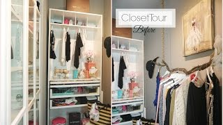 Closet Tour (before) - Closet Organization Ideas - Walk In Closet Diy - Misslizheart