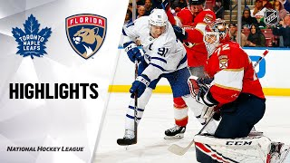 NHL Highlights | Maple Leafs @ Panthers 2/27/20