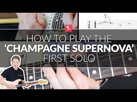How To Play The Champagne Supernova Main Solo - Guitar