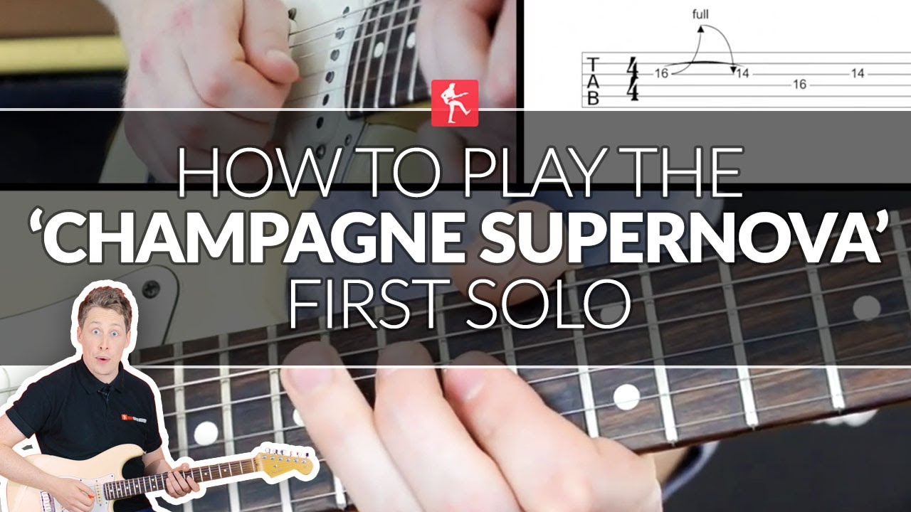How To Play The Champagne Supernova Main Solo - Guitar Lesson