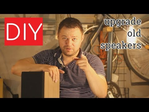 DIY upgrade old speakers natural veneer cabinet speaker