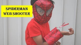 How to make Spiderman Web Shooter with Real Web Fluid | Simple Spider Man Web Shooter (Fun for Kids)