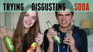 Trying Disgusting Soda Flavors (w/ Sasha Spilberg) | Brent Rivera