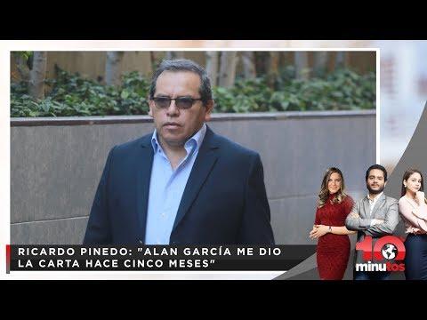 """Exsecreatrio de expresidente: """"Alan García me dio la carta hace cinco meses"""" - 10 minutos Edición No"""