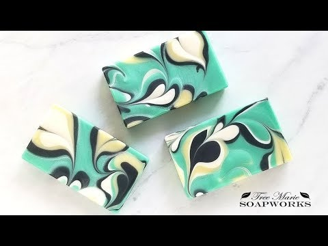 Marbled Heart Swirl Cold Process Soap (Technique Video #18)