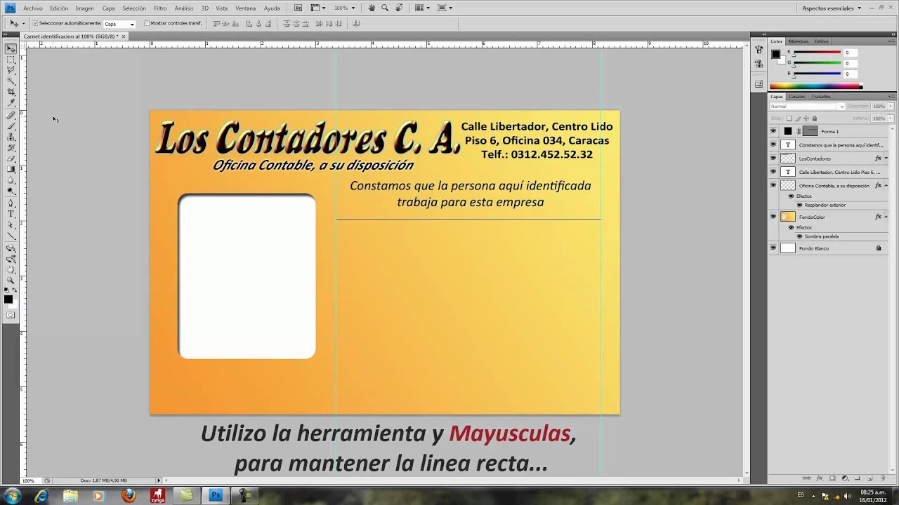 como hacer un carnet en photoshop youtube