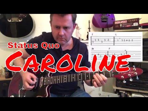 Status Quo - Caroline - Guitar Play Along (Guitar Tab)