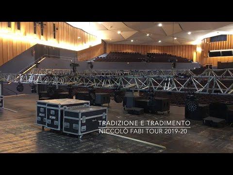"""Niccolò Fabi """"Tradizione e Tradimento Tour 2019-20""""  Backstage & Roadcrew"""