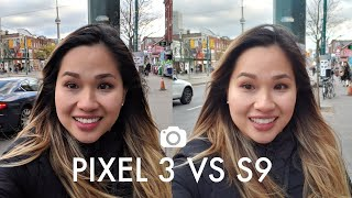Pixel 3 vs Galaxy s9 Front Facing Camera Test