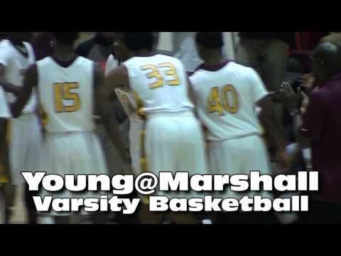 * * Whitney Young Dolphins@Marshall Comandos Varsity Basketball Teaser (IHSA Sports)