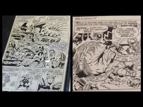 Original Comic Book Art Portfolio at CalComicCon PART 1 - Jack Kirby, Gene Colan, Hulk, X-men