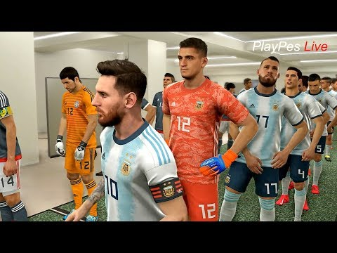 PES 2019 - ARGENTINA Vs PARAGUAY - Full Match & Amazing Goals - PC Gameplay FHD