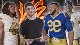 I CHALLENGED AARON DONALD, JUJU SMITH-SCHUSTER, and ALVIN KAMARA!! Who will win?