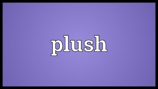 Plush Meaning