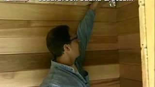 Precut Sauna: Attaching the T