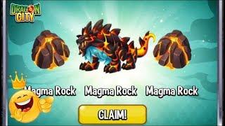 Dragon City - 3x Magma Rock + Fire&Ice Dragon [EXCLUSIVE DRAGON]
