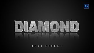 Diamond text effect tutorial on Photoshop