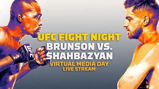 Derek brunson and edmen shahbazyan will answer media questions from 11 am pt to 1:30 for #ufcvegas5 approximate schedule:11 a.m. brunson...