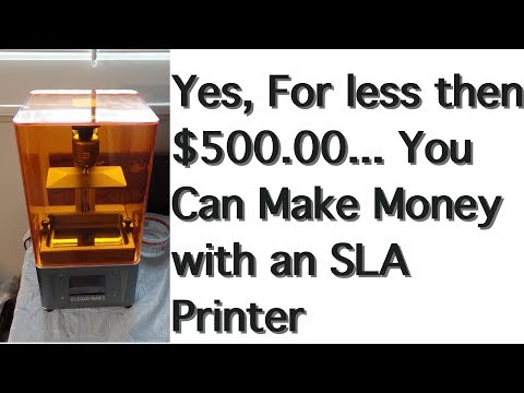 Elegoo Mars printer, review, and Making Money for less then $500.00