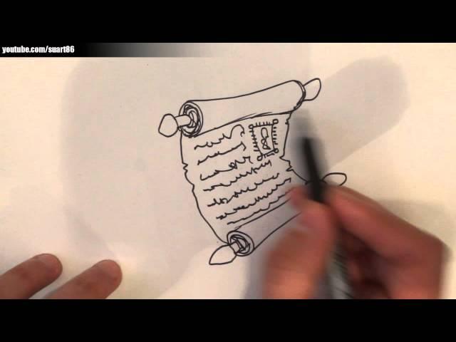Como dibujar un pergamino paso a paso
