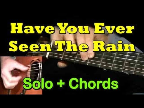 """""""Have You Ever Seen The Rain"""" - Guitar Cover Chords/Solo + TAB By GuitarNick"""