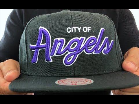 cf5f1678869ce1 Los Angeles Lakers CITY NICKNAME SCRIPT SNAPBACK Black Hat