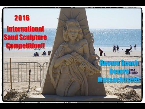 International Sand Sculpture Competition 2016,Revere Beach,Revere Massachusetts