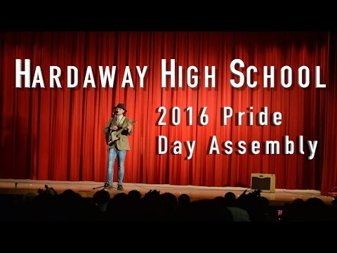 Hardaway High School - Pride Day Assembly 2016   Jake Hess Singing Lay Me Down (Sam Smith)