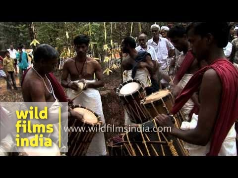 Chenda drummers from Kerala