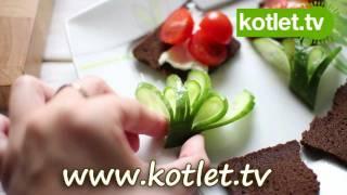 Listki z ogórka - dekoracja potraw - KOTLET.TV