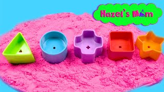 Learning Shapes | Playing with Sand | Educational Videos for Toddlers
