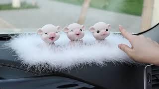 자동차 차 내부 꾸미기 액세서리 장식 여성 돼지 인테리…