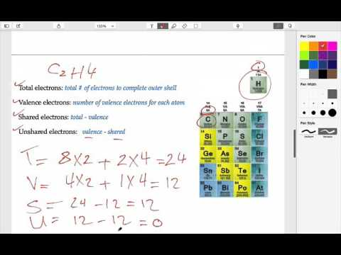 Drawing the Lewis structure of C2H4 - YouTube C2h4 Structure