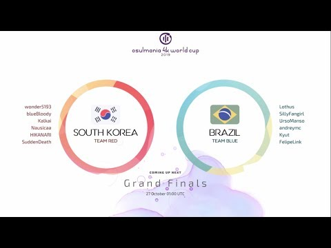 Osu!mania 4K World Cup 2019 Grand Finals: South Korea Vs Brazil GAME 1